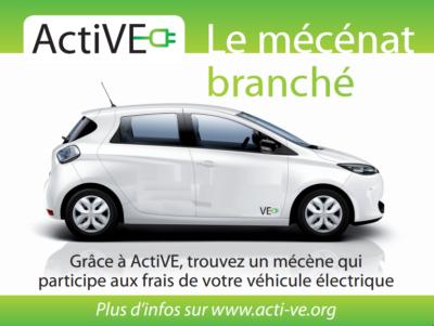 Annonce ActiVE mecene sur ZOE petit logo VE