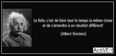 Einstein changer pour le changement ActiVE