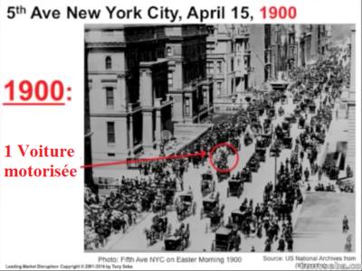 New york 1900 voitures cheveaux motorisées