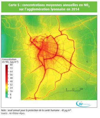 Pollutions particules par la route