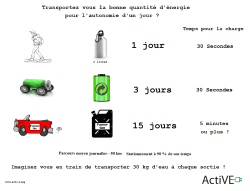 Transport energie quantite journaliere sac a dos