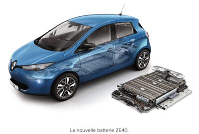 Zoe Renault batterie ZE 40 ActiVE