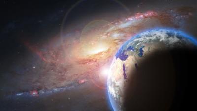 galaxie terre active monde infini