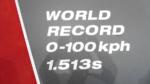 record du monde vitesse 0 a 100 kmh pour le VE