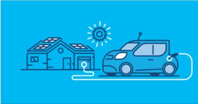 voitures eletriques travail ensemble avec les énergies renouvelables